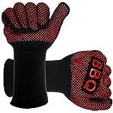 Lamavido Guantes de cocina para barbacoa BBQ Parilla Horno guantes resistentes al calor hasta- 482°F 250℃- 1 Par (largo)
