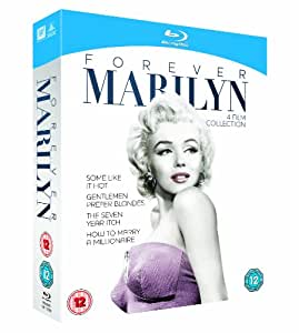 Forever Marilyn Collection (Some Like It Hot / Gentlemen Prefer Blondes / The Seven Year Itch / How to Marry a Millionaire)[ Blu-ray]  [1953] [Region Free]