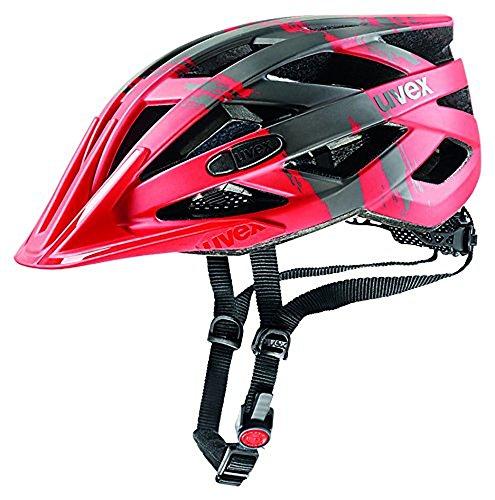 UVEX Erwachsene I-Vo CC Fahrradhelm, Red/Dark Silver Mat, 52-57 cm