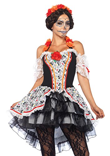 LEG AVENUE 85557 - Damen Kostüm Totenkopf 'Lovely Calavera', Größe XL (Kostüm Sugar Skull)