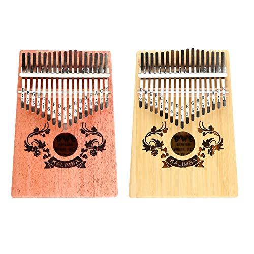 EdBerk74 10/17 Key Kalimba Thumb Piano Kreatives Fingerklavier Kalimba Fingerklavier Taschenformat für Anfänger Tragbares Instrument