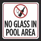 Wandschild ohne Glas im Poolbereich Bild Druck Rot Weiß Schwarz Vorsicht Schwimmbad Schwimmbad Whirlpool Sicherheit Metall Blechschild Post Haus Haus Haus Schild