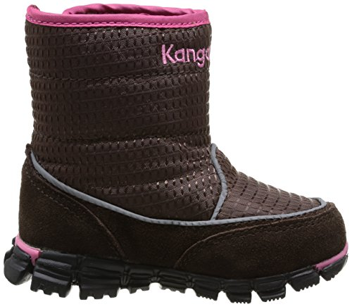 Kangaroos Inlite 3002, Bottes de neige bébé fille Marron (Dk Brown/Magenta 366)