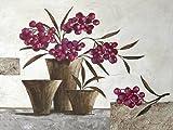 Keilrahmen-Bild - Claudia Ancilotti: Purple Berries 60 x 80 cm Stillleben mit Beeren lila Vasen modern