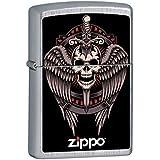 14M021Briquet Zippo, en laiton, gris, 5.70x 3,70x 1,2cm