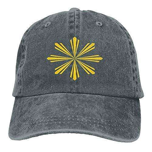 dfegyfr Philippines Sunlight Unisex Adjustable Vintage Cowboy Hat Denim Baseball Kappen ()