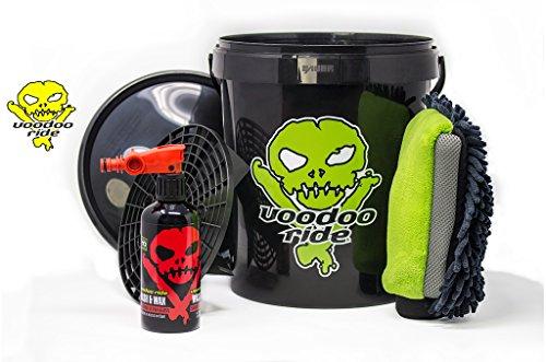 Voodoo Ride Exterior Beginner Set mit Eimer und Schmutzeinsatz Schwarz Autopflege Außenreinigung Reinigung Pflege Schutz Außen Set Reinigungsset Handwäsche