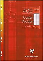 Clairefontaine - Copies doubles perforées blanche 21x29,7cm 400pages grands carreaux 90g- Sous étuis carton
