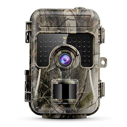 Jimito HH-662 Wildlife Trail Camera 16MP 1080P Caccia Game Camera con 120° Grandangolo 0.6S Motion Digital Infrared Trail Camera Night Vision per Outdoor Scouting Casa Sicurezza