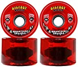 Bigfoot Longboard Rollen 76 mm 80 A SHR Mountain Cruiser durchscheinend rot