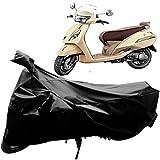 #2: Adroitz Bike Covers, Bike Body Cover for TVS Jupiter Classic Bike with Mirror Pocket in Matte Plain Black