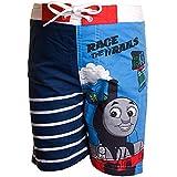 """Thomas, die kleine Lokomotive """"Race The Rails"""" Badehose Boardshorts Jungen Gr. 3-4 Jahre, blau"""