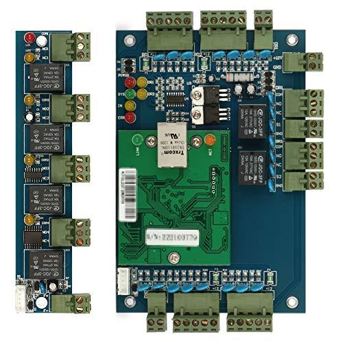 ZOTER Access Control Board, Ethernet TCP IP Netzwerkeingang Türpaneel Controller 2 Türen 4 Leser Datenbank Security System + Erweiterungsboard -
