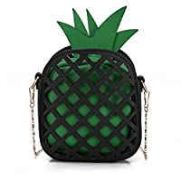Bopopo Women's Fashion Pineapple Shaped Shoulder Bags Cross body Handbag Purse Green