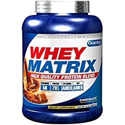 Quamtrax Nutrition Suplemento para Deportistas Whey Matrix, Sabor a Chocolate - 2267 gr
