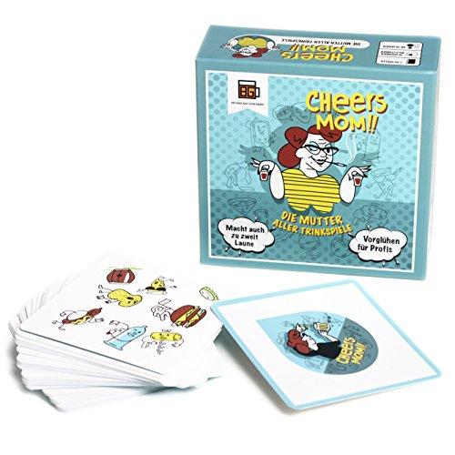 Cheers Mom - Das ultimative Trinkspiel aus Berlin - Partyspiel auch für Großgruppen - bis zu 55 Spieler - Saufspiel - perfekte Geschenkidee zum Geburtstag - ein Kartenspiel von BroGames
