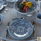 YODECO 6Teller zu Eingang oder Dessert Marokkanischer türkis–D 20cm