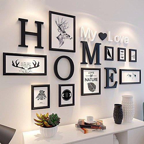 XK.DARLY Wand Home Decor Multi Bild Bilderrahmen DIY Home Wand Dekoration Holzrahmen für Wohnzimmer Schlafzimmer -