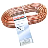 Hama 030725 - Cable de altavoces 2x1,5 mm, 10 m