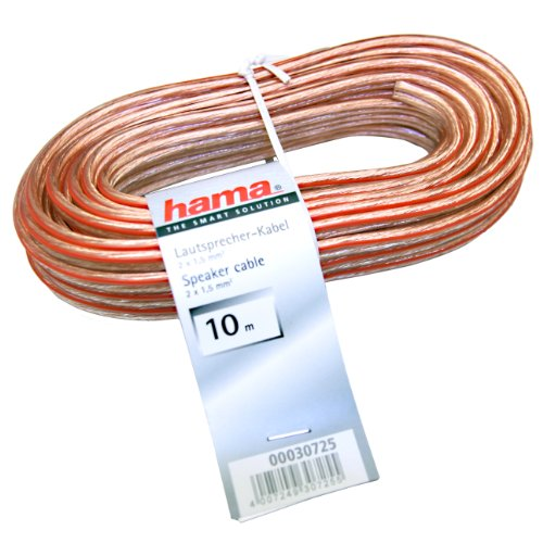 HAMA Cavo audio in matassa 2 x 1,5 mm, 10 metri