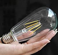 5X E27 LED Filament Bulbs Vintage Retro Edison 4W LED Light Bulb - 40W Equivalent - Warm White 2700K 220V-240V - Non-dimmable from WanLianInc