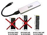 Kalea Informatique© - Gehäuse für SSD MacBook Air 2010/2011auf USB3(USB 3.0SuperSpeed)–Für SSD von MAC in 6+ 12Pin (MC505MC506MC965MC968)