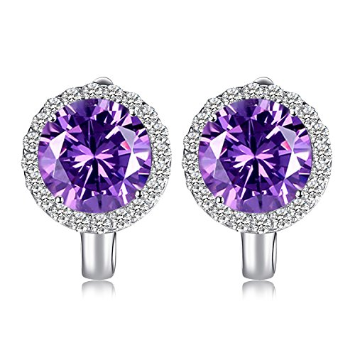 .9ct Erstellt Alexandrit Sapphire Dangle Ring 925 Sterling Silber (Sapphire Halo Ohrringe)