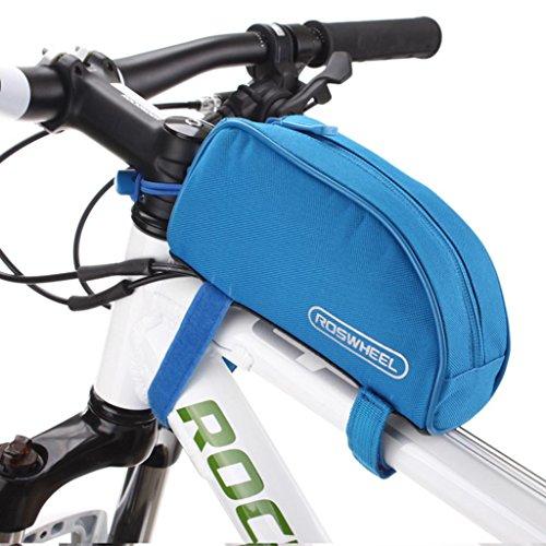 Tofern Radfahren Fahrrad Fahrrad Rahmentasche Oberrohrrahmentasche Vorderrohr Pannier - 8 Farben Alle Blau