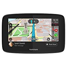 TomTom Car Sat Nav GO 520, 5 Inch with Handsfree Calling, Siri, Google Now, Updates via WiFi, Lifetime Traffic via Smartphone and World Maps, Smartphone Messages, Capacitive Screen, Black, Grey