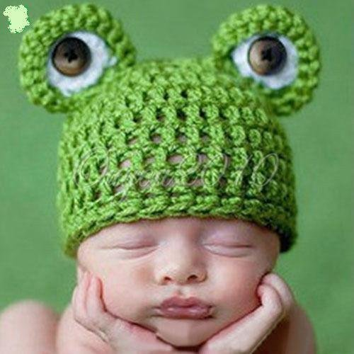 Baby Kleinkind Neugeborenen Hand gestrickt häkeln Strickmütze Hut Kostüm Baby Fotografie Requisiten Props (Frosch - Baby Hände Kostüm