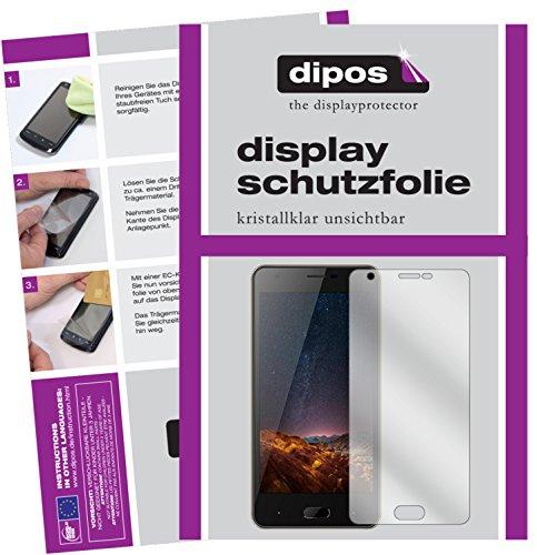 dipos I 2X Schutzfolie klar passend für Doogee X20L Folie Bildschirmschutzfolie