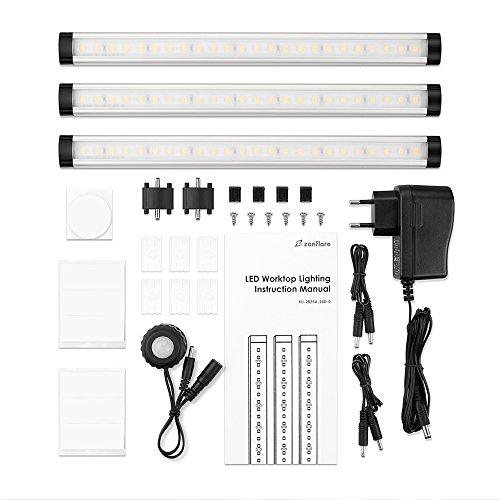 Zanflare LED Luces de Armario Regulable Accesorios incluidos Blanco Cálido 3000K Clase de eficiencia energética A+