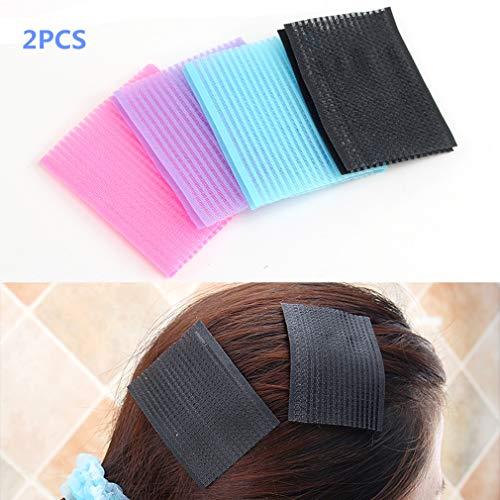 Klett-Patches Hair Pony 2pcs Magic Pony Hair Pad Fringe Holder Haarschmuck Zubehör für Frauen Unisex von TheBigThumb