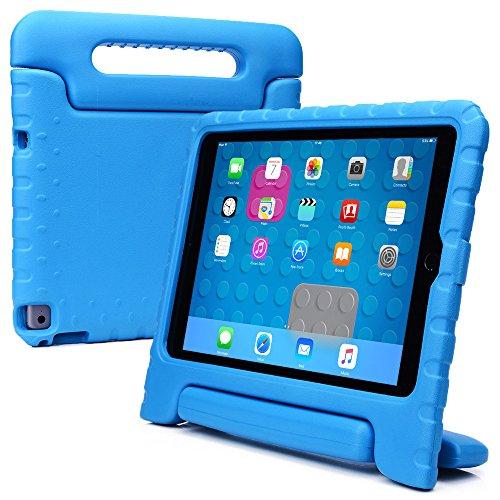 iPad Air 2 hülle fur kinder, COOPER DYNAMO Beanspruchbare, strapazeirfähige, robuste, gepolsterte Hartschalenhülle mit integriertem Griff, Standfunktion & durchsichtigem Displaysschutz (Blau)