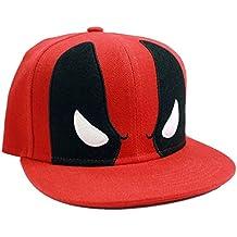 Deadpool Angry Eyes Snapback Cap Negro/Rojo