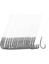 """Linea de gancho de pesca - TOOGOO(R) 40 pieza linea de pesca 8# de longitud de 20"""" de gancho de pesca de metal de color agrisado oscuro"""