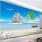 Strand Meerblick 3D Fototapete Für Wohnzimmer Hintergrund Wand Große Wandbilder Moderne Wandmalerei Tapete Wohnkultur XXL 400X776CM