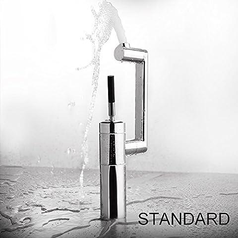 Deluxe Wasserhahn badezimmerhähne Copper Basin Wasserbad Befestigung messing Wasserhahn waschen gedreht tippen Becken einzelne Bohrung taps ICD 60066, Standard