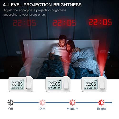 Zoom IMG-3 tedgem sveglia digitale con proiettore
