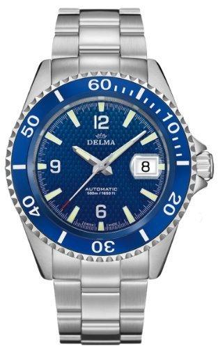 DELMA Santiago- Herrenuhr/Sportuhr - blau - Swiss Made