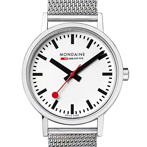 d15ee008cbaf Mondaine Classic 36 mm - Reloj análogico de cuarzo con correa de acero  inoxidable unisex