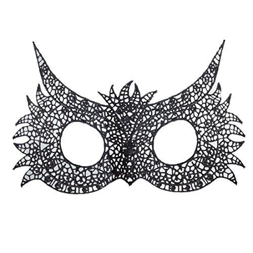 Basico 1 Stück Sexy Ausschnitt Maske Spitze Maske Cool Flower Eye Mask für Masquerade Party Mask Kostüm Halloween Party Fancy ()