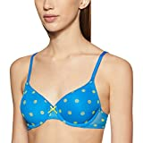 Amante Cotton T Shirt Bra (BRA50901_Directoire Blue and Evening Primrose_32B)