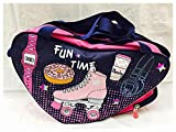 #2: Shopaholic Attractive Pink And Blue Skating Bag For Girls