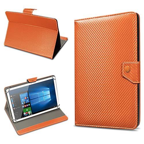 UC-Express Schutz Tablet Tasche für 10-10.1 Zoll Hülle Schutzhülle Carbon Case Bag Cover, Farben:Bronze, Tablet Modell für:Medion Lifetab S10346