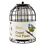 Green Jem BF6-NEW2 Dome Shaped Caged Seed Wild Bird Feeder, Brown Hammer Tone, 15.5x15.5x23 cm 4