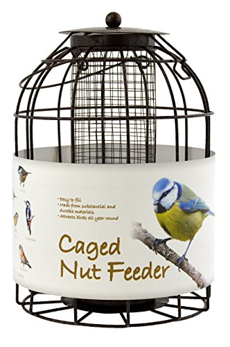 Green Jem BF6-NEW2 Dome Shaped Caged Seed Wild Bird Feeder, Brown Hammer Tone, 15.5x15.5x23 cm 1