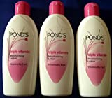 3 X Ponds Triple Vitamin Moisturising Body Lotion Soft Smooth Radiant Skin Glow 100ml X 3 = 300ml