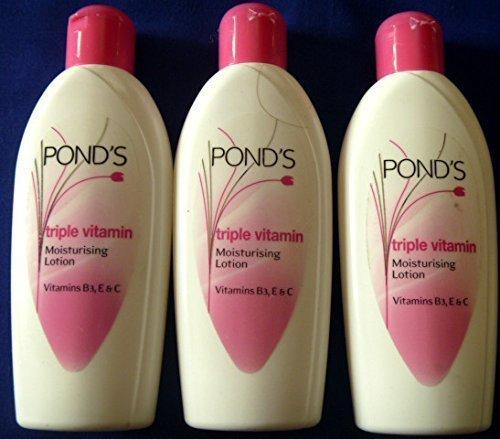 3 X Ponds Triple Vitamin Moisturising Body Lotion Soft Smooth Radiant Skin Glow 100ml X 3 = 300ml by Ponds -