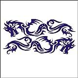 lepni.me 3001_DBL Autoaufkleber Set Stammes- Drachen für Auto (Dark Blue)